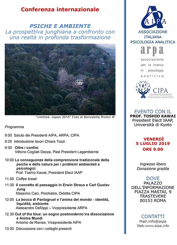 """Conferenza Internazionale """"PSICHE E AMBIENTE"""""""