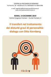 Il transfert nel trattamento dei disturbi gravi di personalità: dialogo con Otto Kernberg