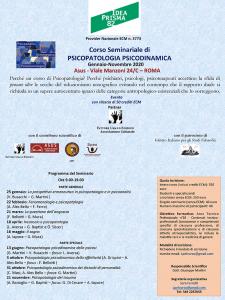 Corso Seminariale di PSICOPATOLOGIA PSICODINAMICA