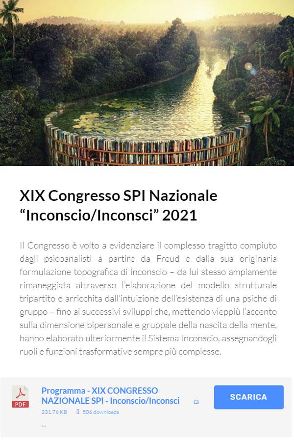 XIX Congresso Nazionale Online: Inconscio/Inconsci