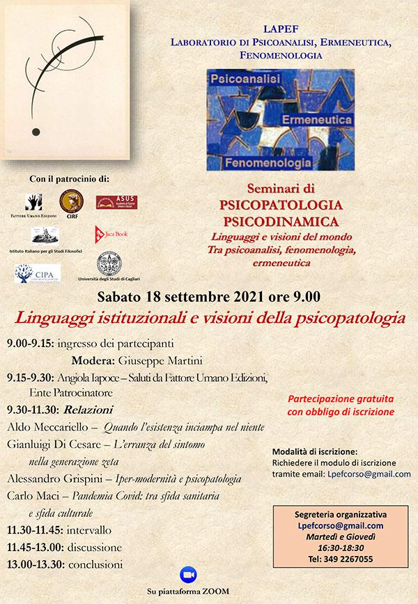 LAPEF - Laboratorio di Psicoanalisi, Ermeneutica, Fenomenologia